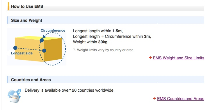 export ems size Export